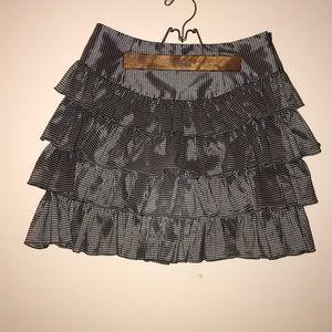 Betsy Johnson Black and White Plaid Skirt